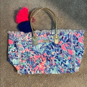 Lilly Pulitzer canvas tote